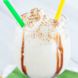 Bay Hill Hummer - blend of vodka, dark creme de cacao, brandy and vanilla ice cream!